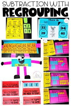 Students learn all about Subtraction With Regrouping with these fun activities and games!