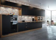 System Eik er en robust kjøkkenmodell i høytrykkslaminat, som er markedets mest slitesterke materiale for kjøkkeninnredning.