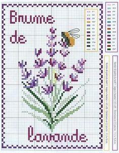 Brume de lavande cross stitch. Repinned by www.mygrowingtraditions.com