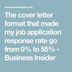 the cover letter format that made my job application response rate go from 0 to 55