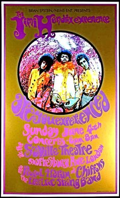 "JIMI HENDRIX 1967 Concert Poster London • 100% Mint unused condition • Well discounted price + we combine shipping • Click on image for awesome view • Poster is 12"" x 18"" • Semi-Gloss Finish • Great Music Collectible - superb copy of original • Usually ships within 72 hours or less with tracking. • Satisfaction guaranteed or your money back.Go to: Sportsworldwest.com"