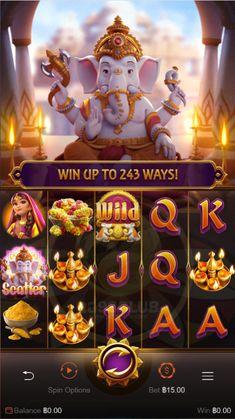 เกมสล็อต Ganesha Gold เกมสล็อตออนไลน์ทองคำพระพิฆเนศของค่ายpgslotauto พระพิฆเนศเทพเจ้าแห่งการเริ่มต้นใหม่ความสำเร็จและปัญญาได้รับการบูชามานานหลายศตวรรษ Game Logo, Game Ui, Bingo Games, Card Games, Game Concept, Concept Art, Hindu Symbols, Play Store App, Casino Poker