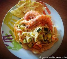 4 passi nella mia vita: Primi Piatti TerraMare: Pici Toscani con mazzancol...