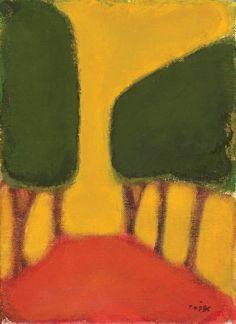 Ori Reisman. Trees. O/C 33x24cm.