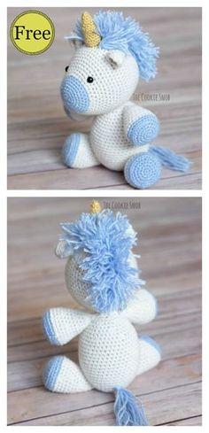 Unicorn Amirugumi Free Crochet Pattern #freecrochetpatterns #amigurumi