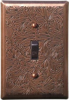 mg designs maidenhaire fern oil rubbed bronze single toggle switchplate mgmai