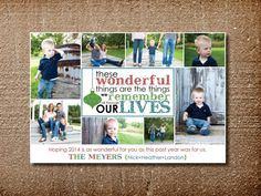 Photo Christmas Card Holiday Card Wonderful Things by PinchOfSpice