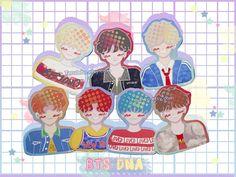 BTS Stickers - bts DNA - bts sticker - glossy paper stickers Planner Stickers, Deco Stickers, Cute Planner, Bts Merch, Sticker Ideas, Kpop, Aesthetic Stickers, Sticker Paper, Dna