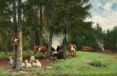 Vallflicka med boskap
