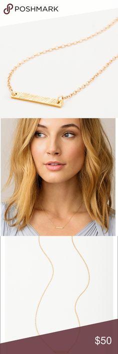 Gorjana 'Knox' gold bar staple necklace Gorjana 'Knox' gold bar necklace bought from Nordstrom. Like new condition. Nordstrom Jewelry Necklaces
