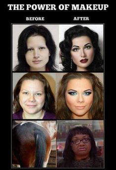 Makeup is a crazy illusion