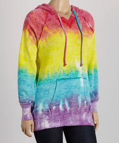 Look what I found on #zulily! Rainbow Stripe Hoodie - Plus by TROO #zulilyfinds