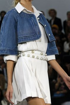 Denim and pearls only the way Chanel can do it!