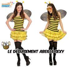 Superbe déguisement d'abeille en vente sur notre site http://www.deguisement-magic.com/deguisement-abeille-pour-adulte.html