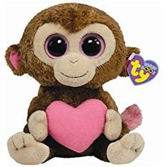 6e159be11ba TY Beanie Boos - CASANOVA the Valentine Monkey ( Beanie Baby Size ) Ty  Babies