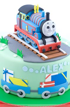 Thomas the Tank Engine Cake - Baking Obsession