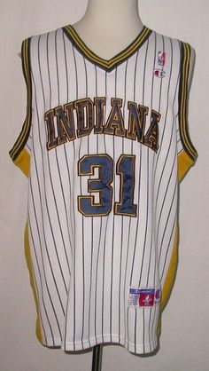 Vintage Rare Reggie Miller Indiana Pacers Champion Sewn Jersey sz 52  eBay   itemoftheday Vintage. Vintage Basketball ... 0f9d06705