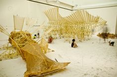 Theo Jansen Exhibition: The Beach Animal That Eats Wind / Theo Jansen with Earthscape
