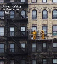 Funny pictures about I used to think old buildings were made of dark bricks. Oh, and cool pics about I used to think old buildings were made of dark bricks. Also, I used to think old buildings were made of dark bricks. New York Buildings, Old Buildings, Photoshop, Lightroom, New York City, Clean My House, Funny New, Funny Today, Pressure Washing
