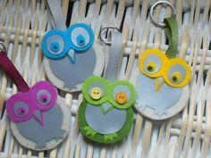 Fête des mères 2019 More owls! Rock Crafts, Felt Crafts, Easy Crafts, Diy And Crafts, Arts And Crafts, Diy For Kids, Crafts For Kids, Diy Crafts For School, Bike Craft