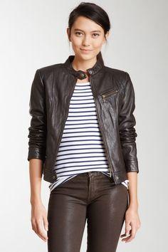 Whet blu Leather Moto Jacket by Leather Weather: Coats & Jackets on @HauteLook
