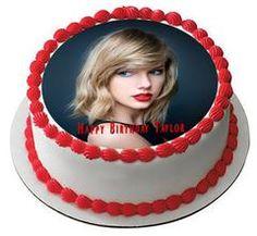 Taylor Swift Edible Birthday Cake Topper OR Cupcake Topper, Decor
