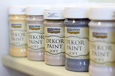 Dekor Paint termékcsalád – Termékismertető #beedee #beedeescrap #DIY #pentart #pentacolor #tutorial #paint #dekorpaintsoft Paint Paint, Annie Sloan, Decoupage, Shabby Chic, Crafts, Diy, Painting, Vintage, Creative