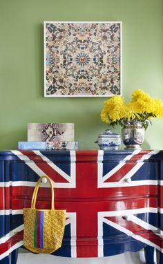 union jack on the dresser, diy