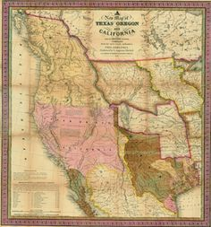 1846 Map of what would become the Western half of the United States
