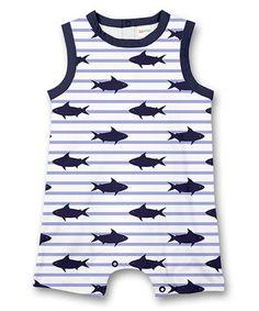 Blue Stripe Shark Bodysuit - Newborn, Infant & Toddler #zulily #zulilyfinds