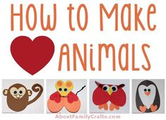 How to Make Paper Heart Animals | Discover how easy it is to make a variety of animals using little more than paper hearts and glue.