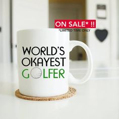 fathers day golf world's okayest golfer golf gifts for by artRuss