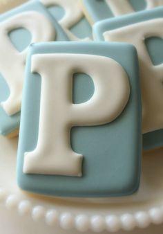 Perfect Monogram Cookies - The Sweet Adventures of Sugar Belle Fancy Cookies, Iced Cookies, Brownie Cookies, Royal Icing Cookies, Cupcake Cookies, Sugar Cookies, Cookies Et Biscuits, Cupcakes, Onesie Cookies