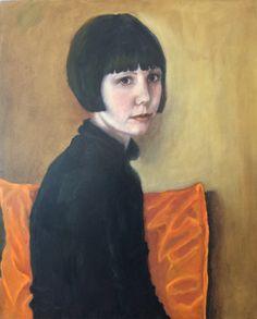 Francisca Louw - Portrait of Kitty 2015 Oil on board