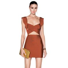 2017 New Women Sexy Solid Tank Hollow Out V-Neck Mini Summer Bandage Dress
