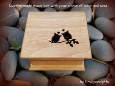 Wooden Music Box, Wooden Boxes, Davy Jones Theme, Your Song Elton John, Ben E King, Anniversary Songs, The Lion Sleeps Tonight, Ring Bearer Gifts