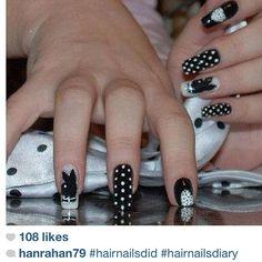 via Rose Nails | Instagram -  Playboy/PlayGirl  Nail Art    Nail Designs