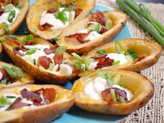 oven baked potato skins - Budget Bytes