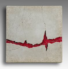"Kim Wozniak, Cardiac Arrest, Deconstructed and reassembled cast light weight concrete with Mexican smalti inclusions. 12"" x 12"""