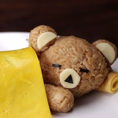 Sleeping Rice Bear with an Egg Blanket A wonderful dish that will be to your children's liking for sure! Creative and tasty dinner for kids!