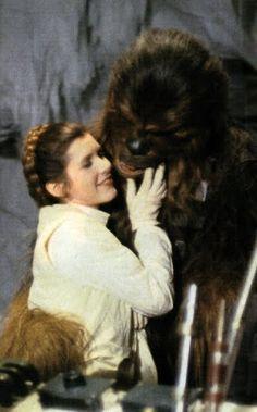 Leia and Chewbacca