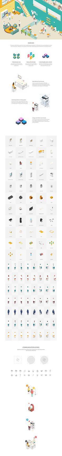 Isometric Office Pack on Behance