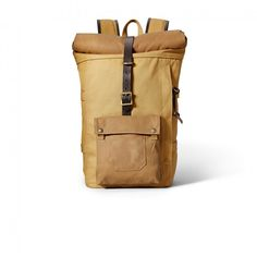 Roll-Top Backpack - Tan