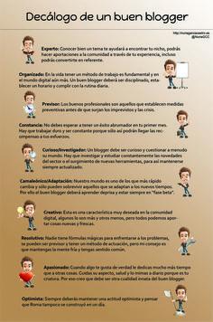 Decálogo de un buen blogger #infografia #infographic #socialmedia