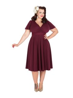 """Retro clothing for the full-figured woman: Lady Voluptuous, by Fuller Figure Fuller Bust - """"Lyra"""" dress"""