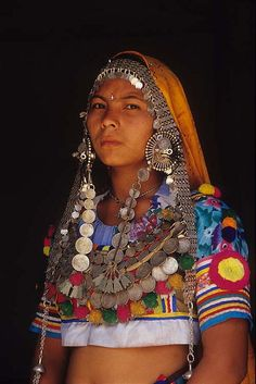 Traditional jewelry of the Tharu women of Nepal