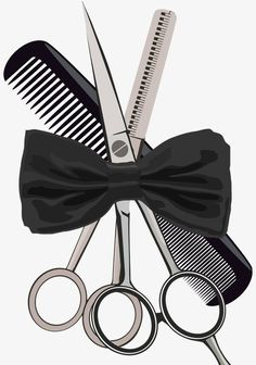 Barber equipment scissors comb and weigh scissors - Stock Vector , Hairdressing Supplies, Barber Equipment, Hairstylist Quotes, Artist Logo, Portraits From Photos, Nail Artist, Scissors, Hairdresser, Salons