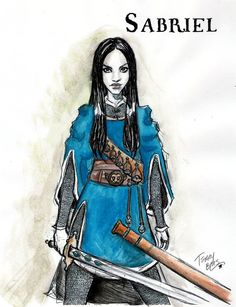 Sabriel by TerryBlas on deviantART