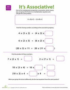 math worksheet : 1000 ideas about associative property on pinterest  properties  : Distributive Property Of Multiplication Worksheets 6th Grade