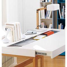 hidden storage brilliant torino desk table in office furniture cb2 cb2 office